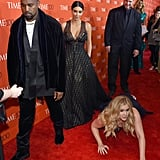 When Amy Schumer Threw Herself on the Ground in Front of Kim Kardashian and Kanye West