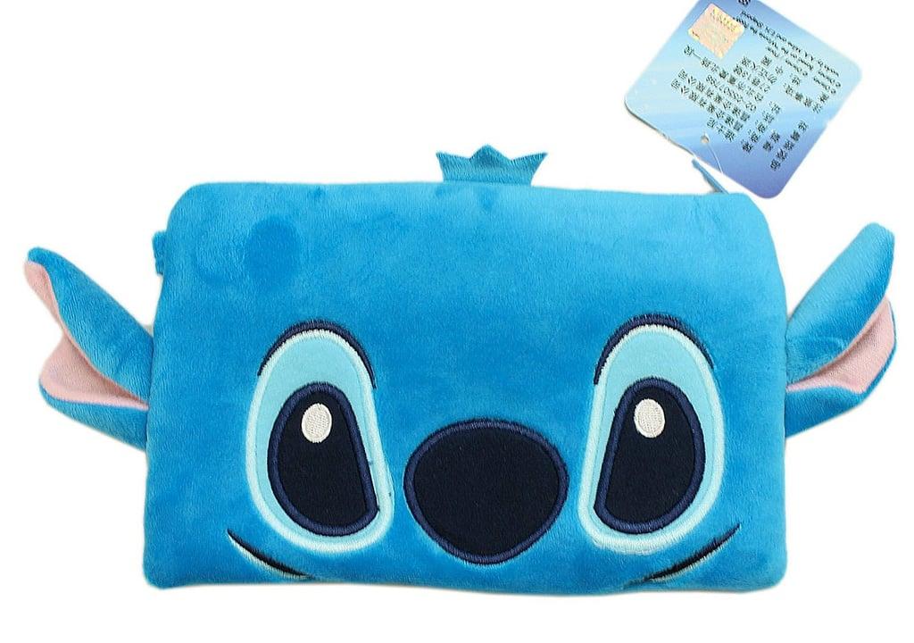 Disney's Stitch Face Plush Cosmetic Bag