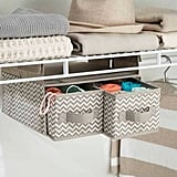 InterDesign Chevron Fabric Hanging Closet Storage Organizer