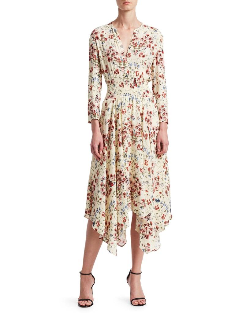 af6ef080f76 Shop It  Maje Rayne Handkerchief Midi Dress
