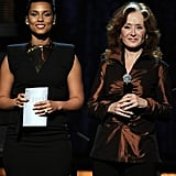 Alicia Keys and Bonnie Raitt took the stage at the 2012 Grammys.