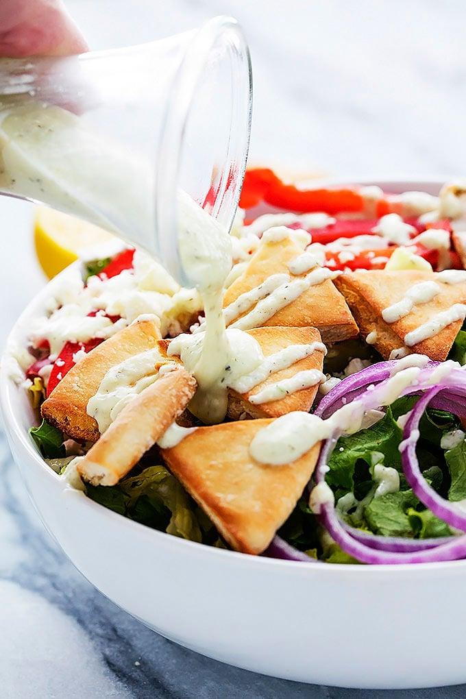 Chicken Gyro Salad Boneless Skinless Chicken Breast Recipes Popsugar Fitness Photo 7