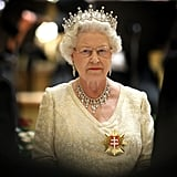 Queen Elizabeth II visits Slovakia in 2008.