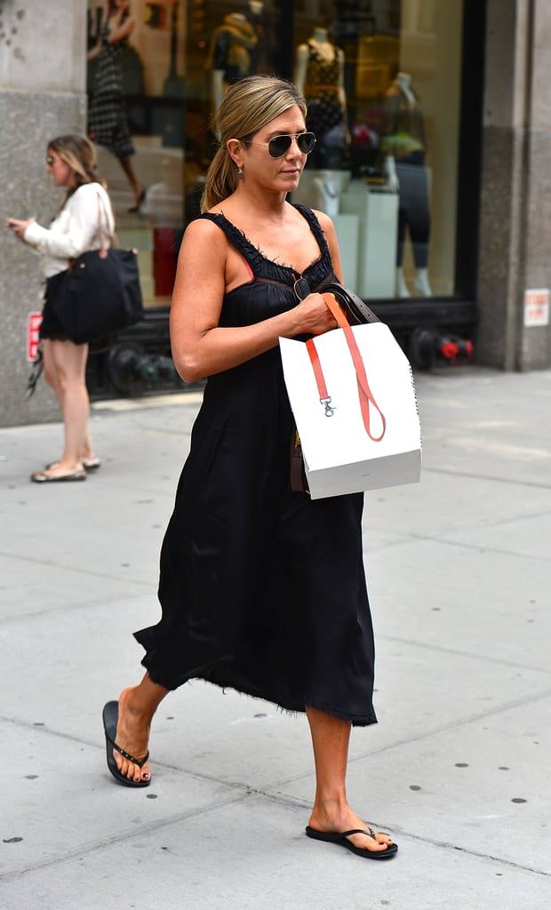 Jennifer Aniston went shopping in NYC.