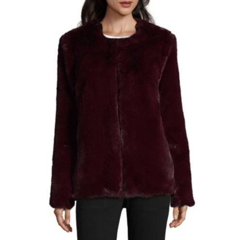 Liz Claiborne Heavyweight Faux Fur Coat