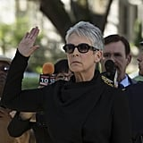 Jamie Lee Curtis — otherwise known as Dean Cathy Munsch — knows her signature color.