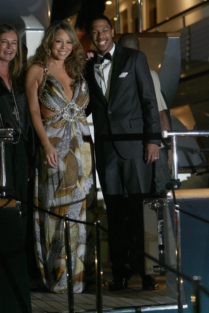 Nick Cannon and Mariah Carey teamed up to hit the deck at a Roberto Cavalli dinner during Cannes in May 2009.