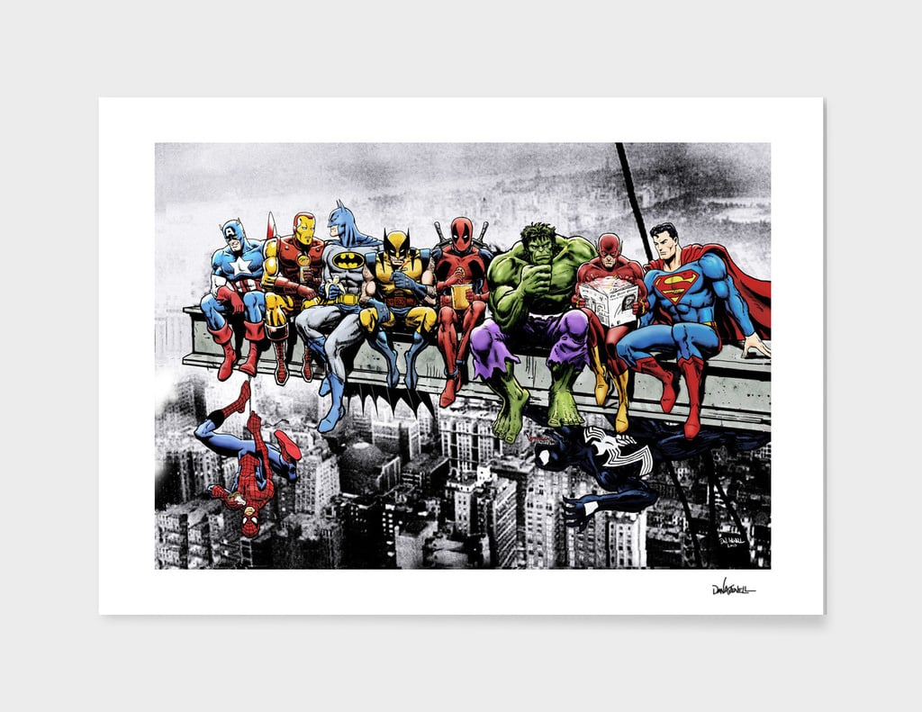 Marvel and DC Superheroes Poster