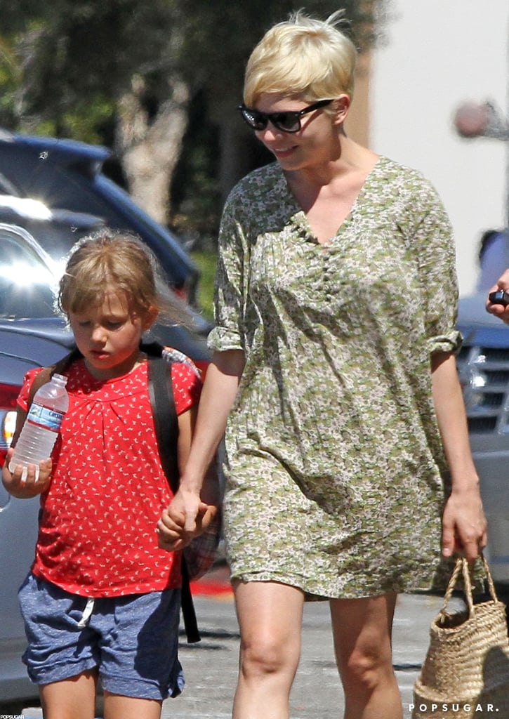 Michelle Williams held hands with Matilda Ledger.
