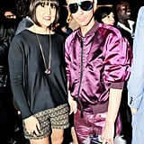Trina Turk joined Kyle Anderson at her presentation at Fashion Week.