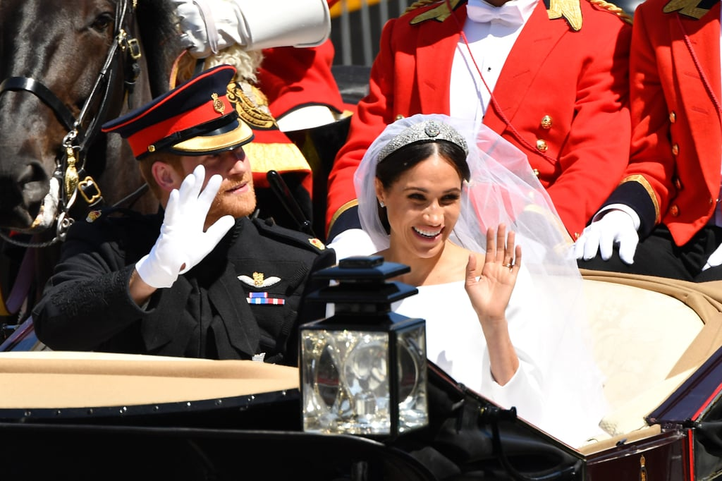 Waving to Well-Wishers on Their Carriage Procession, 2018