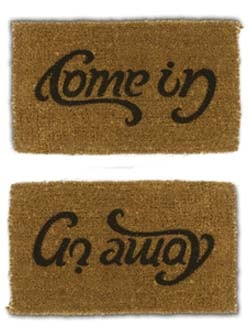 "Product Of The Day: Mixed Messages ""Welcome"" Mat"