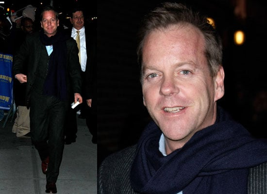 Photos of Kiefer Sutherland at Late Show with David Letterman: Watch Trailer 24 Day 7 Airs on Sky 1 on Monday 12 January 2009
