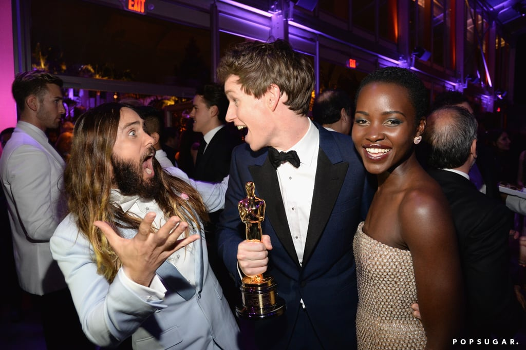 Jared Leto, Eddie Redmayne, and Lupita Nyong'o