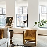 The penthouse is located in Manhattan's SoHo neighborhood, an area known for its traditional loft apartments.