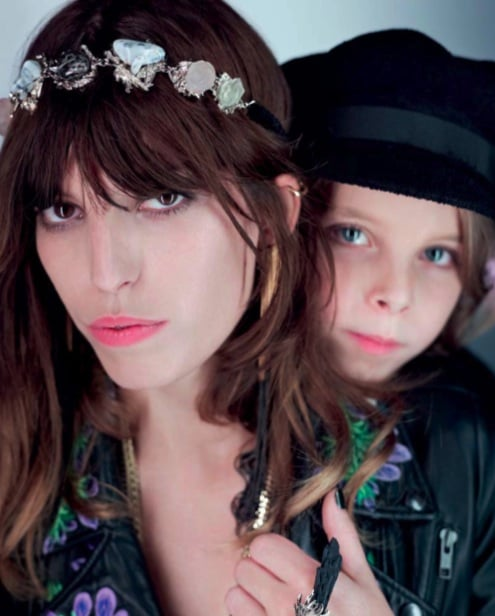 Lou Doillon and Marlowe, Bijou de Tete Barbara Speciale for Opening Ceremony and Casquette Aby