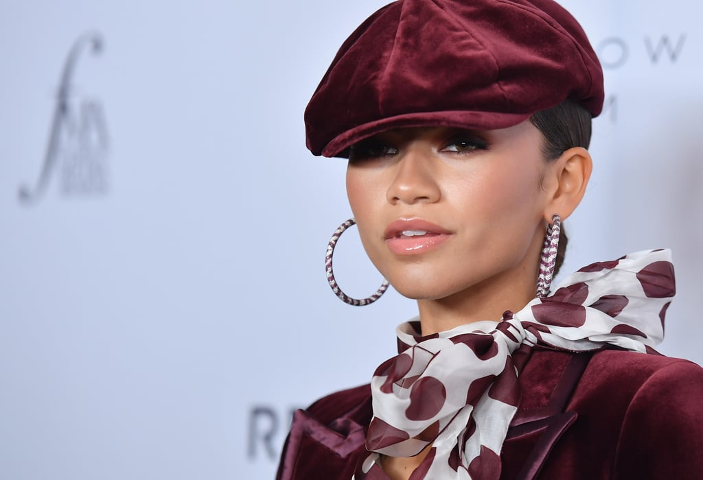 Zendaya S Red Velvet Suit At The Fashion Media Awards 2019 Popsugar Fashion Uk Photo 18