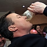 David Cameron chugged Guinness during his 2010 campaign.