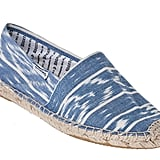 For lounging, sightseeing, and everything in between, rock a cool pair of ikat-print flat espadrilles. Soludos Ikat Flat Espadrille in Blue ($42)