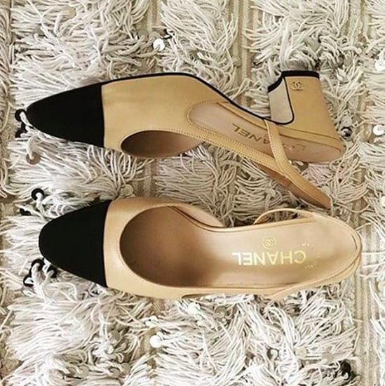 Chanel Two-Tone Slingback Shoe