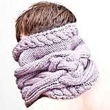 Chunky Cable Knit Collar Scarf ($215)