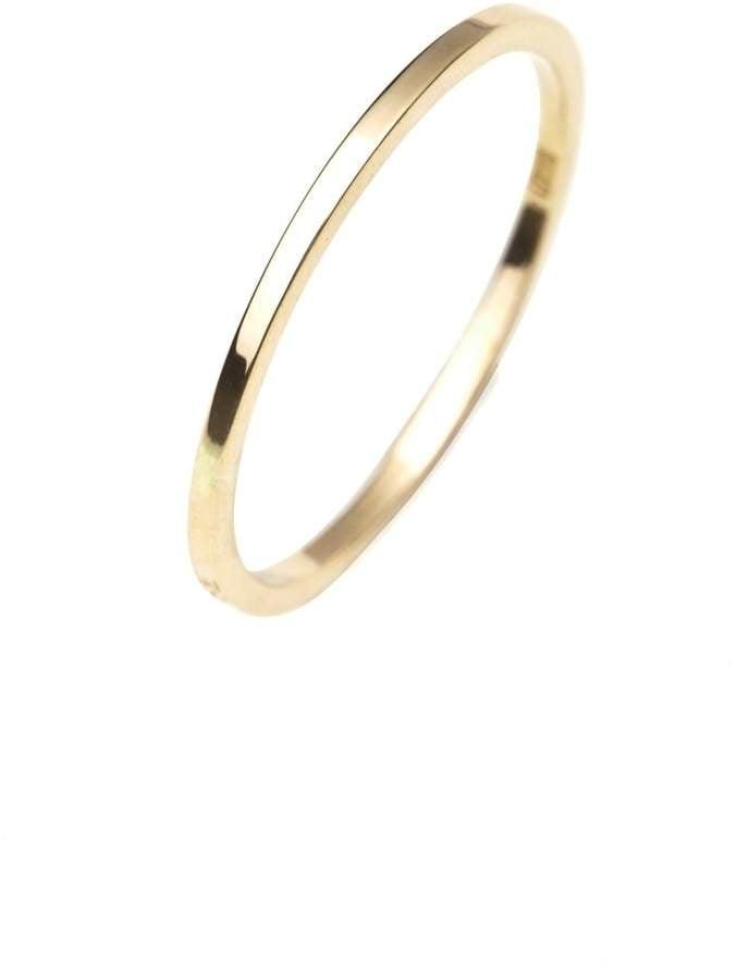 Isabel Lennse Extra Thin Plain Ring Gold   Robin Wright Wedding ...