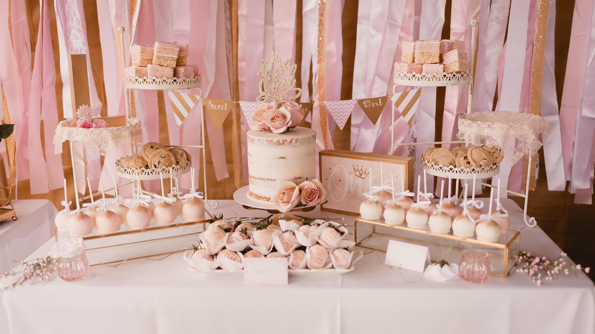 Pink And Gold Baby Shower Ideas Popsugar Family