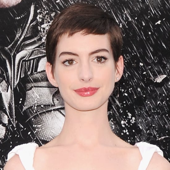 Anne Hathaway Dark Knight Rises: Anne Hathaway In White At The Dark Knight Rises Premiere