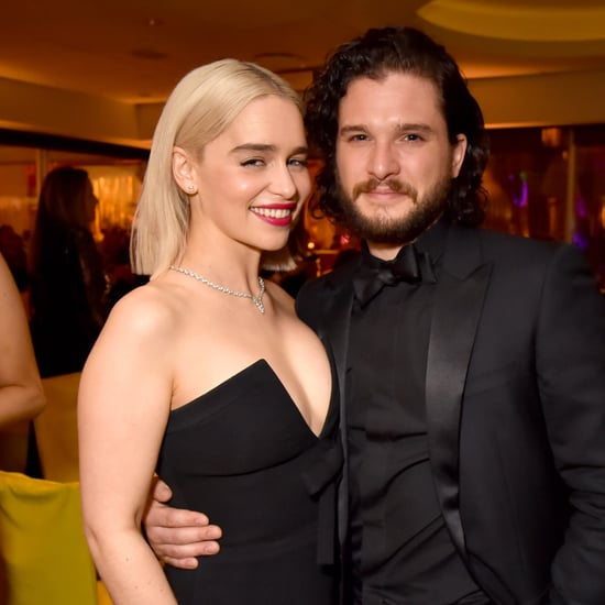 Kit Harington and Emilia Clarke at Golden Globes 2018