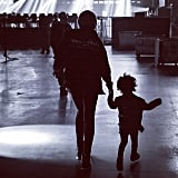 Blue Ivy Carter walked out on stage with her mom, Beyoncé, during her parents' tour. Source: Instagram user beyonce