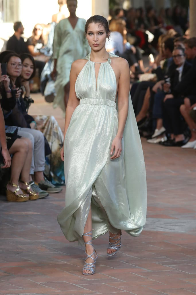 b79054c0f67 Bella Wore This Glimmering Grecian-Inspired Mint Dress at Alberta ...