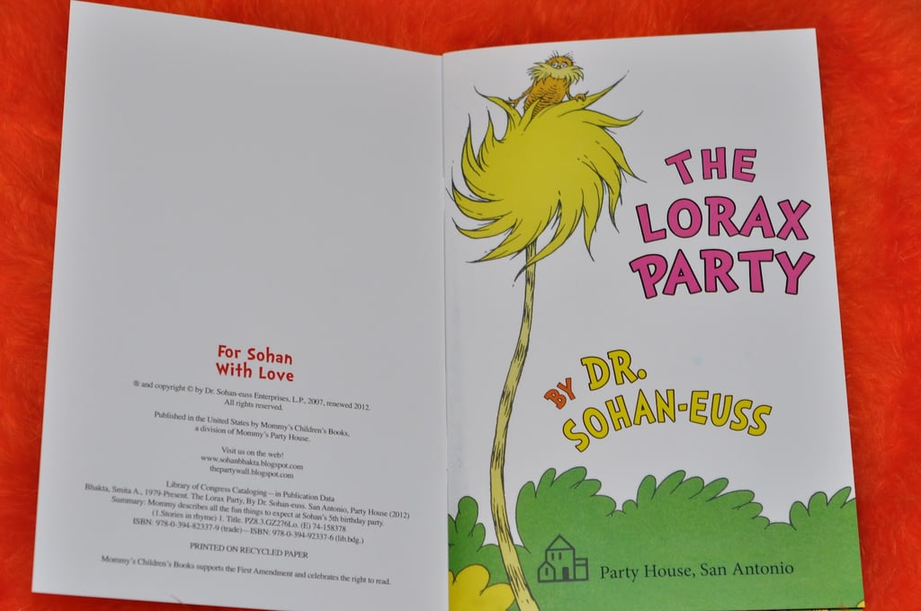 The Lorax Party Invitation