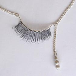 Eyelash necklaces by Stephanie Simek