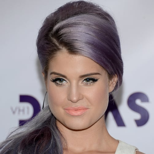 Kelly Osbourne's Silver and Purple Hair
