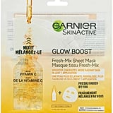 Garnier Glow Boost Fresh-Mix Sheet Mask with Vitamin C