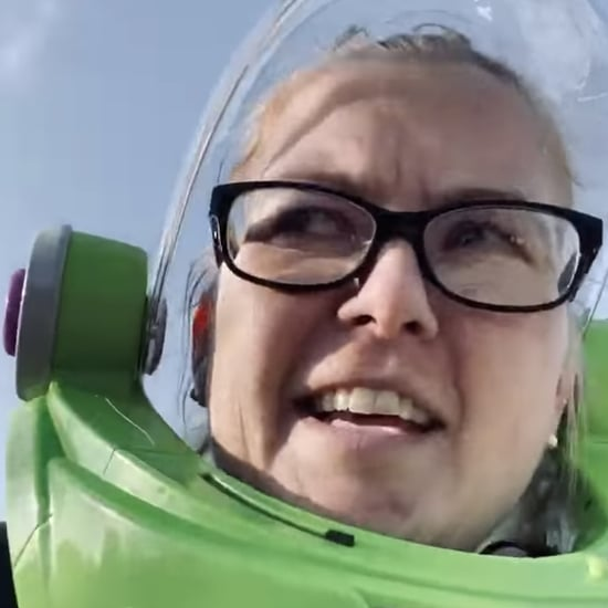 Mom Goes to the Store in a Buzz Lightyear Helmet | Video