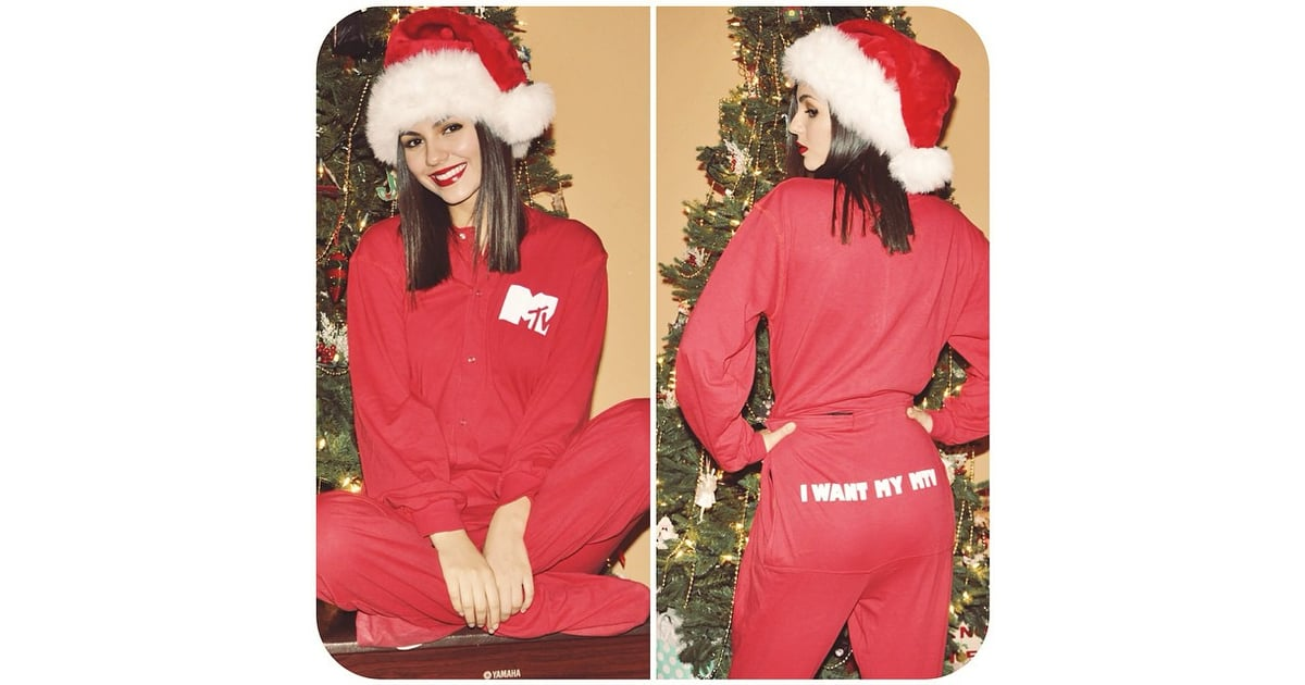 Victoria Justice looked picture perfect in her MTV onesie. | 2014 ...