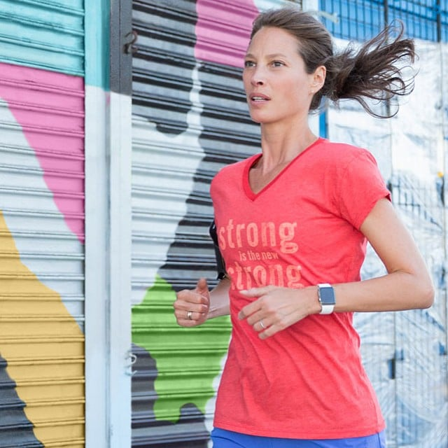 Christy Turlington logged some miles in preparation for the London Marathon.
