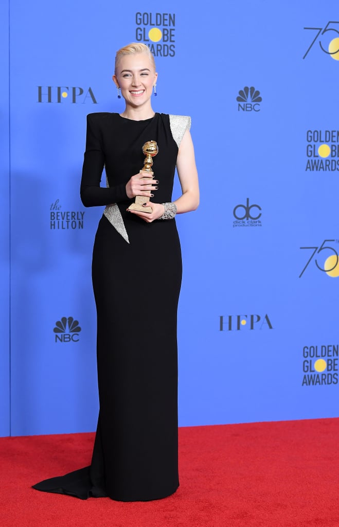 Saoirse Ronan at the Golden Globes 2018