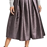 Halogen x Atlantic-Pacific Pleated Metallic Skirt
