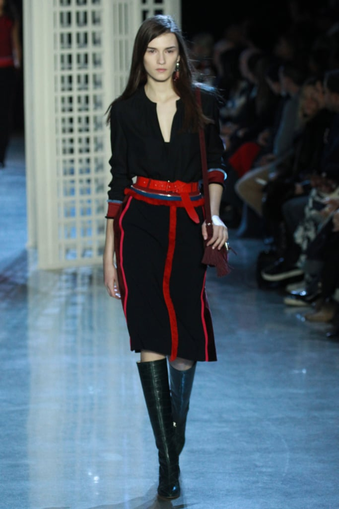 And we were totally feeling the contrast look at Altuzarra too.