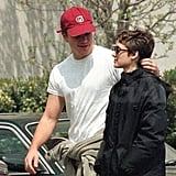 While they were dating, Matt Damon and Winona Ryder spent a casual afternoon together in Beverly Hills in April 1998.