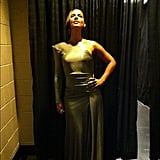 Alicia Keys dazzled in a gold gown. Source: Instagram user aliciakeys