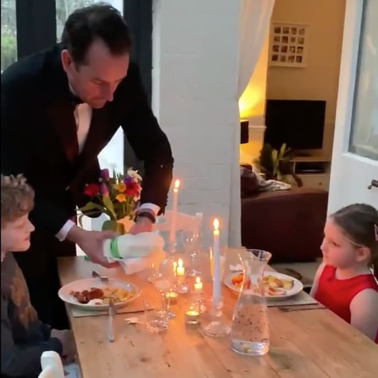 Dad Pretends to Be Waiter to Kids at Dinner Amid Coronavirus