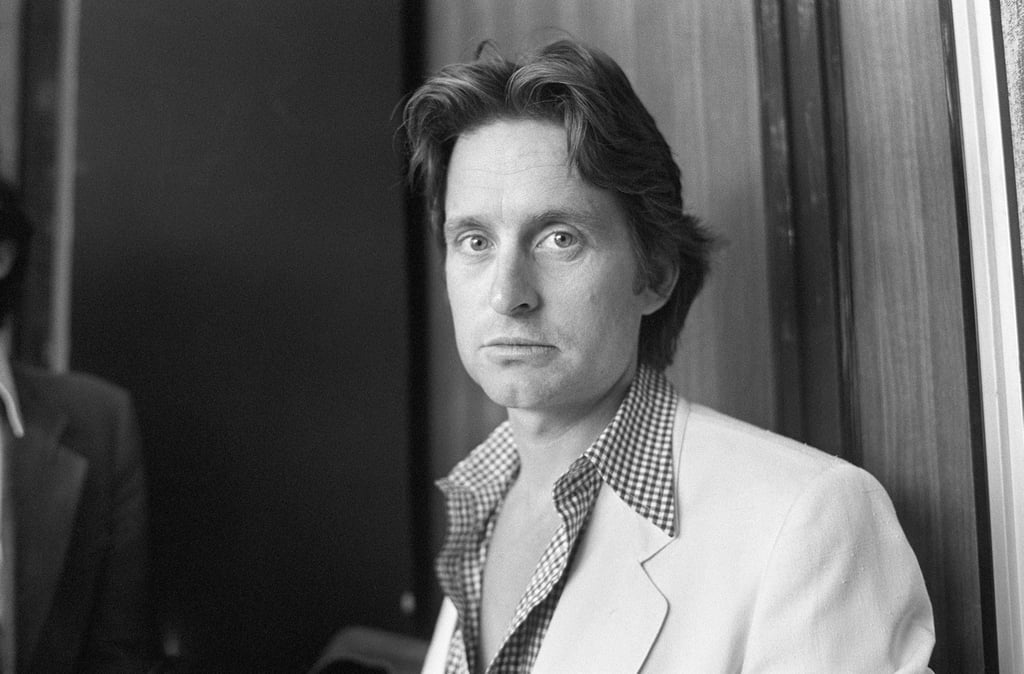 Michael douglas posed for photographers in 1979