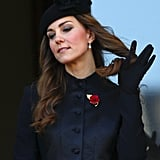 Kate made sure her hair looked great during a Remembrance Day event.