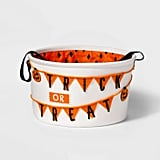 Treat or Trick Fabric Halloween Candy Basket