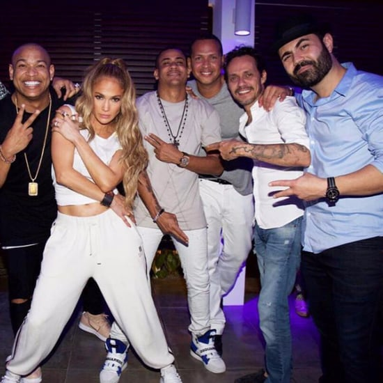 Jennifer Lopez and Alex Rodriguez Party With Marc Anthony