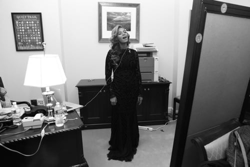 """Beyonce practiced """"The Star-Spangled Banner"""" in private on Monday before singing it at the public swearing-in ceremony. Source: Tumblr user Beyoncé"""