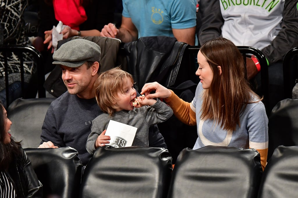 Olivia Wilde and Jason Sudeikis attended Thursday night's Brooklyn Nets game against the Golden State Warriors in NYC with their 2-year-old son, Otis. The trio sat in the stands and got into the game with smiles and plenty of popcorn. Olivia also showed off her new shorter 'do, which she debuted on Instagram earlier this week. Sadly, the couple's newborn daughter, Daisy Josephine Sudeikis, didn't make an appearance, but Olivia has already given us several peeks at her beautiful little girl on Instagram.       Related:                                                                                                           43 Sweet Moments Between Jason Sudeikis and Olivia Wilde That Will Steal Your Heart